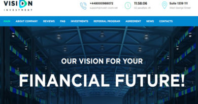 [STOP] Invest-vision – Lãi từ 1.5-3.5 % Daily, Min 5$, Thanh toán Manual