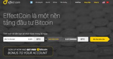Review EffectCoin – Nền tảng đầu tư Bitcoin lợi nhuận ròng 30% mỗi tháng