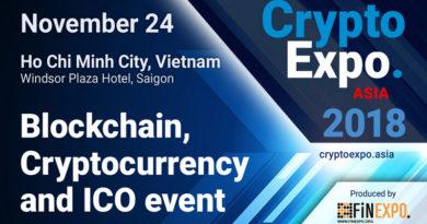 CryptoExpoAsia, Vietnam – Sự kiện số 1 về Blockchain, tiền điện tử và ICO quốc tế tại Việt Nam