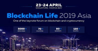 Binance và Huobi phát biểu tại Blockchain Life 2019 tại Singapore vào ngày 23-24 tháng 4
