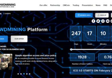 [HYIP Review] Crowdmining.org – Dự án đầu tư lĩnh vực khai thác tiền điện tử lãi 3% hàng ngày