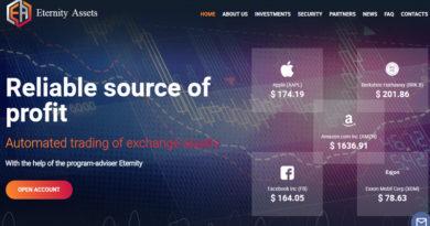 [SCAM] Eternity Assets – Dự án đầu tư lãi up 7% hằng ngày