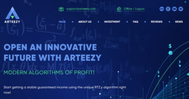 [HYIP Review] Arteezy.org – Dự án đầu tư dài hạn đa lĩnh vực, lãi từ 1% mỗi ngày