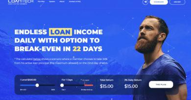 [HYIP Review] LoanTech – Lãi upto 3% hằng ngày – Hoàn vốn 34% sau 22 ngày
