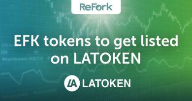 [HOT NEW] Token EFK của ReFork sẽ được niêm yết trên sàn giao dịch LATOKEN từ ngày 03/08/2020